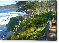 Carmel Beach Stairway Acrylic Print by Jim Pavelle
