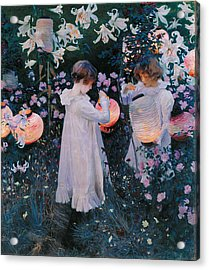 Acrylic Print featuring the painting Carnation Lily Lily Rose by John Singer Sargent