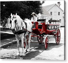 Carriage Ride Acrylic Print by Raymond Earley