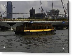 Cartoon - Colorful River Cruise Boat In Singapore Acrylic Print