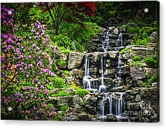 Cascading Waterfall Acrylic Print by Elena Elisseeva