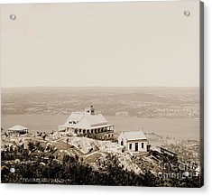 Casino At The Top Of Mt Beacon In Sepia Tone Acrylic Print