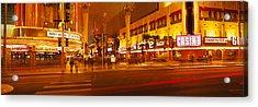 Casino Lit Up At Night, Fremont Street Acrylic Print