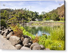 Cataract Gorge Basin Chairlifts In Launceston Acrylic Print