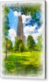 Cathedral Of Learning University Of Pittsburgh Acrylic Print by Amy Cicconi