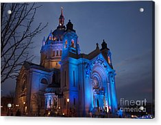 Cathedral Of Saint Paul - Crashed Ice Acrylic Print by Kevin Jack