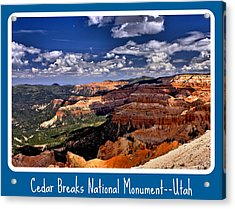 Cedar Breaks Nm Acrylic Print