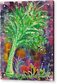 Acrylic Print featuring the painting Celery Tree by Holly Carmichael