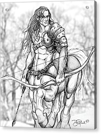 Centaur Acrylic Print by Bill Richards