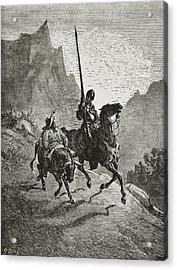 Cervantes Saavedra, Miguel De 1547-1616 Acrylic Print