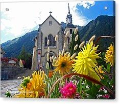 Chamonix Church Acrylic Print