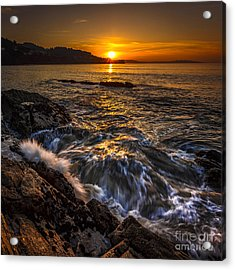 Chamoso Point In Ares Estuary Galicia Spain Acrylic Print