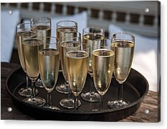 Champagne Flutes Acrylic Print by Frank Gaertner