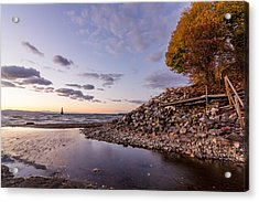 Acrylic Print featuring the photograph Champlain Twilight by Jeremy Farnsworth
