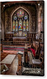 Chapel Window Acrylic Print by Adrian Evans