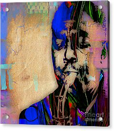 Charlie Parker Collection Acrylic Print by Marvin Blaine