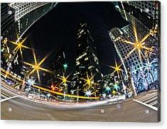 Charlotte Nc Usa - Nightlife Around Charlotte Acrylic Print by Alex Grichenko
