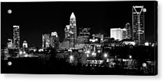 Charlotte Panoramic In Black And White Acrylic Print by Frozen in Time Fine Art Photography