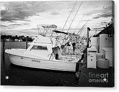 Charter Fishing Boats Charter Boat Row City Marina Key West Florida Usa Acrylic Print by Joe Fox