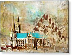 Chartres Cathedral Acrylic Print by Catf