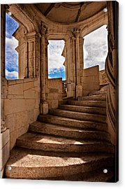 Acrylic Print featuring the photograph Chateau De Blois Staircase / Loire Valley by Barry O Carroll