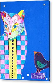 Checkered Cat Acrylic Print