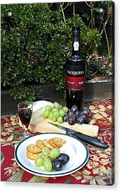 Acrylic Print featuring the digital art Cheese And Port by Helene U Taylor