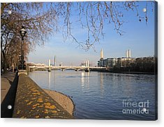 Chelsea Embankment London Uk Acrylic Print