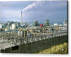Chemical Works Acrylic Print by Robert Brook/science Photo Library