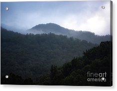 Cherokee Mountains Acrylic Print by Eva Thomas