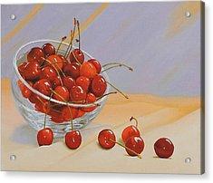 Cherries Bowl Acrylic Print by Lepercq Veronique
