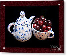 Cherries Invited To Tea 2 Acrylic Print