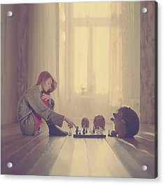 Chess Acrylic Print by Anka Zhuravleva