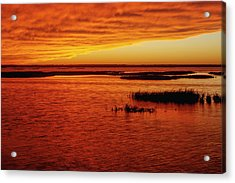 Cheyenne Bottoms Sunset Acrylic Print