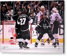 Chicago Blackhawks V Los Angeles Kings Acrylic Print by Harry How