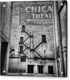 Chicago Theatre Alley Entrance Photo Acrylic Print by Paul Velgos