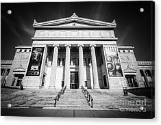 Chicago Field Museum In Black And White Acrylic Print