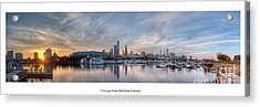 Chicago From Burnham Harbor Acrylic Print by Twenty Two North Photography