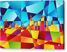 Chicago Illinois Skyline Acrylic Print by Michael Tompsett