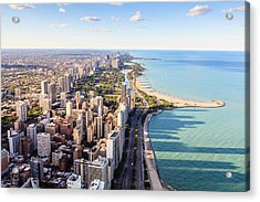 Chicago Lakefront Skyline Acrylic Print by Fraser Hall