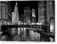 Chicago River Acrylic Print by Jeff Lewis