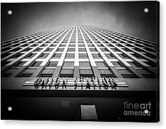 Chicago Union Station In Black And White Acrylic Print by Paul Velgos