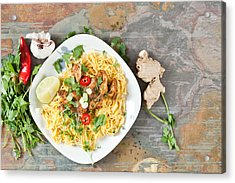 Chicken Noodles Acrylic Print by Tom Gowanlock