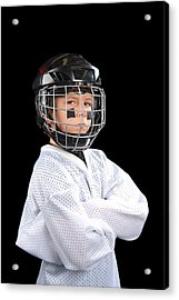 Child Hockey Player Acrylic Print