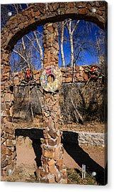 Chimayo Cross Acrylic Print by Chris Smith