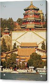 China, Beijing, Summer Palace, Temple Acrylic Print