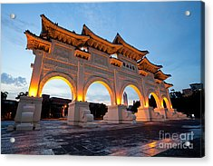 Chinese Archways On Liberty Square In Taipei Taiwan Acrylic Print by Fototrav Print