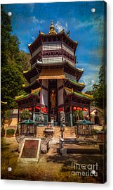 Chinese Temple Acrylic Print by Adrian Evans