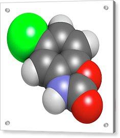 Chlorzoxazone Muscle Relaxant Drug Acrylic Print by Molekuul