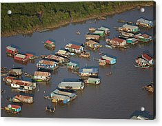 Chong Kneas Floating Village, Tonle Sap Acrylic Print